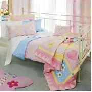 Freckles by Dorma - Hearts and Flowers Double Bedspread