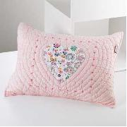 Freckles by Dorma - Hearts and Flowers Quilted Small Cushion
