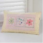 Freckles by Dorma - Hearts and Flowers Quilted Standard Pillowcase