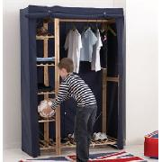 Blue Canvas Double Wardrobe