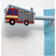 Fire Engine Curtain Pole and Finial Kit