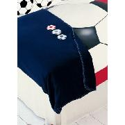Photographic Football Print Applique Fleece Throw