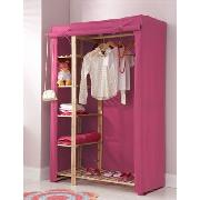Pink Canvas Double Wardrobe