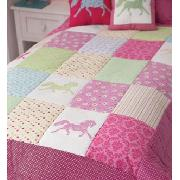 Silhouette Horses Quilted Throw