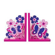 Butterfly and Flowers Bookends