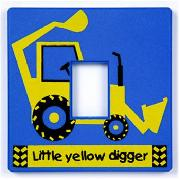 Little Yellow Digger Light Switch Cover