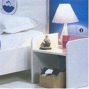 Ocean White Bedside Table