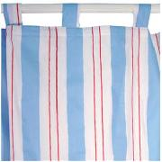 So Long Sailor Sea Stripe Tab Top Curtains