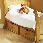 Solid Wood Pair of Under Bed Storage Drawers