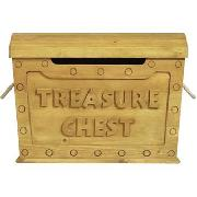 Solid Wood Treasure Chest