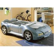 Spider Racing Car Bed In Blue/Grey