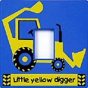 Yellow Digger Light Switch Cover