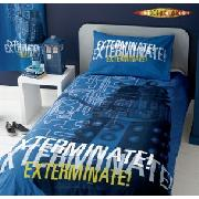 Dr Who Exterminate Lined Curtains