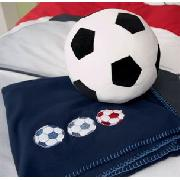 Football Applique Fleece Throw