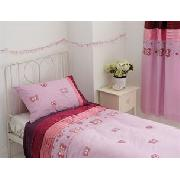 Butterfly Satin Lined Curtains