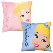 Disney Sleeping Beauty and Princess Cinderella Cushion Twinpack