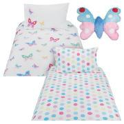 Kids' Butterflies Duvet Set and Cushion