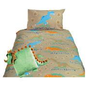 Kids' Dinosaur Duvet Set and Cushion