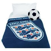 Kids' England Fleece Blanket and Football Cushion