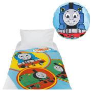 Kids' Thomas the Tank Engine Cushion and Throw